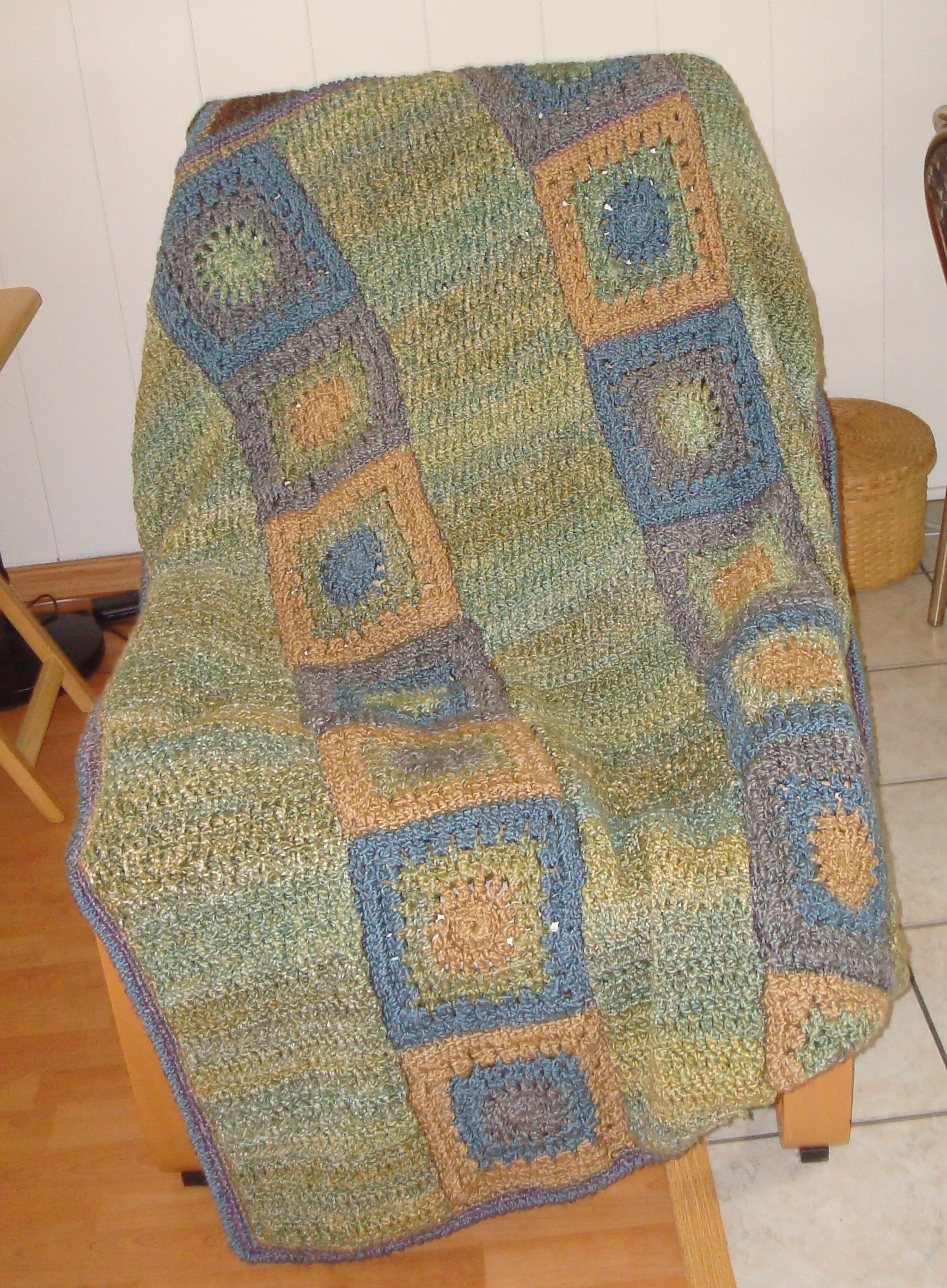 Two Crocheted Afghans Finally Finished