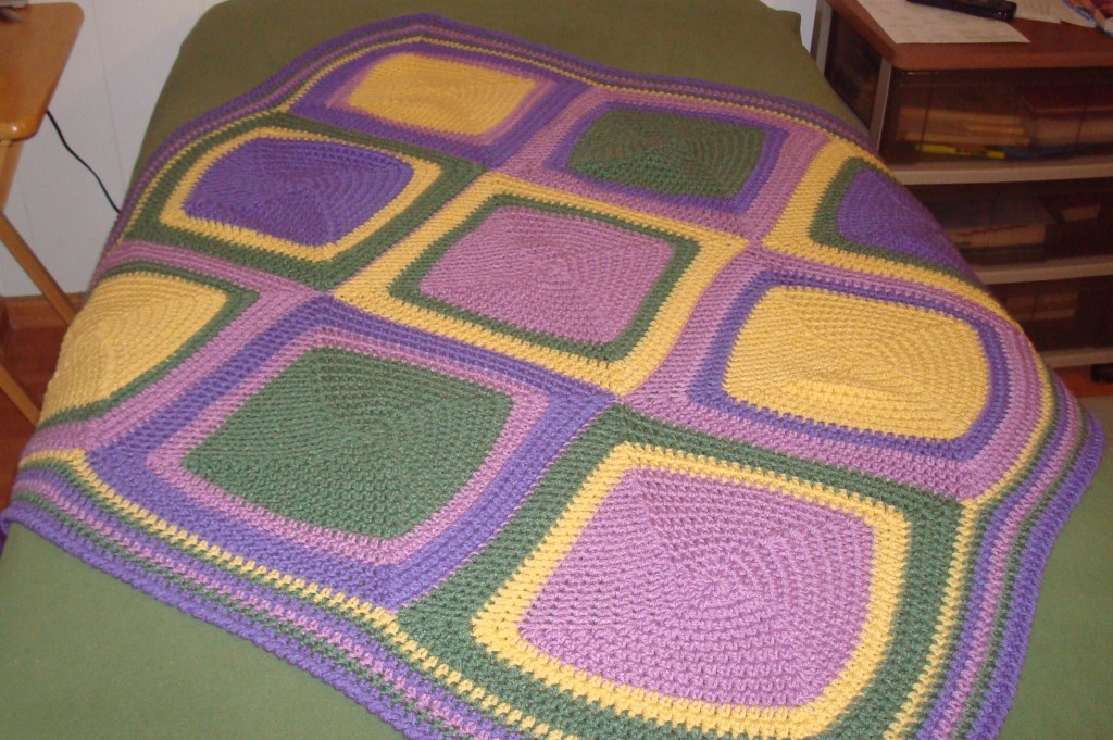 Vannas Choice Squared Afghan Yarn Over Pull Through