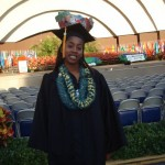 Adrienne before the graduation ceremony at the Waikiki Shell