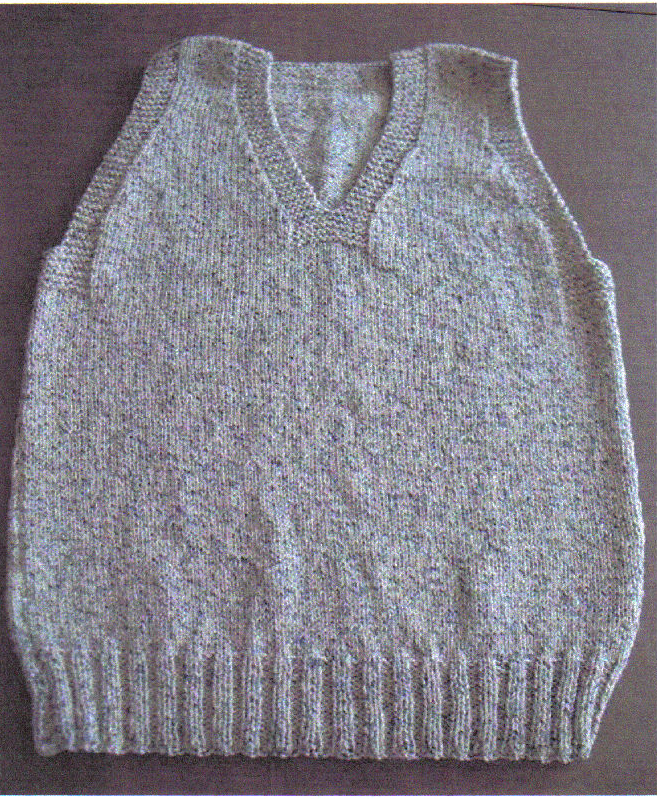 The Seafarer Vest, one of the Christmas At Sea patterns you can knit