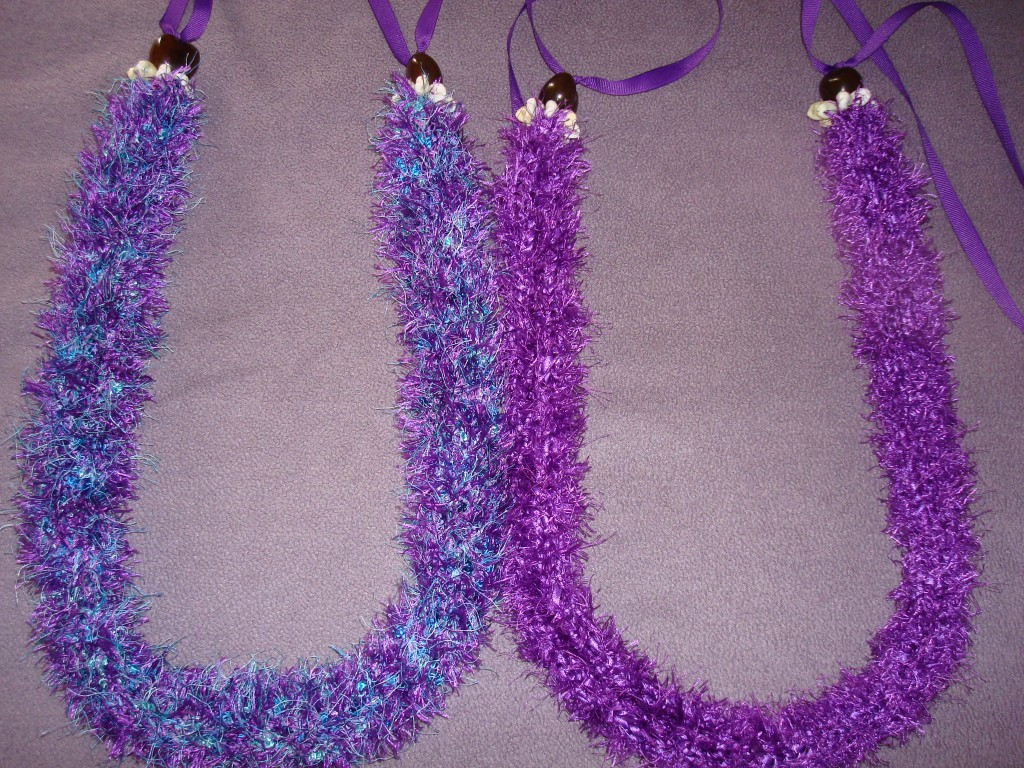Crocheted Leis For A A Good Friends Wedding Yarn Over Pull Through