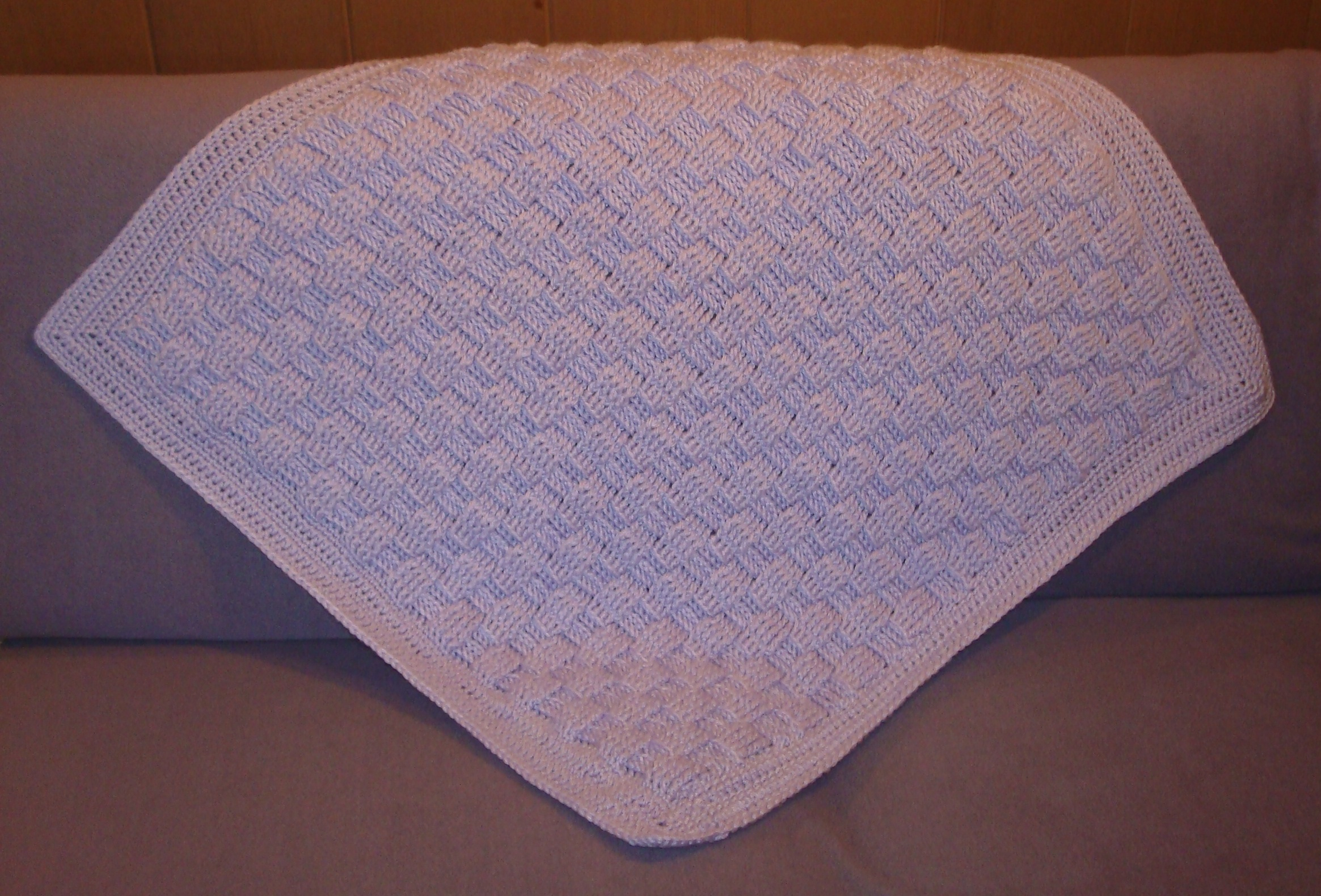 Cousin Crystal's Crocheted Basket Weave Baby Blanket