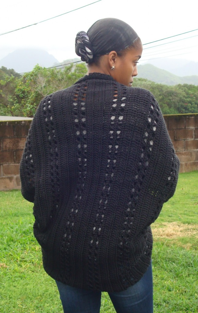 Deanne Youngs Crochet X Stitch Shrug Yarn Over Pull Through