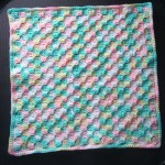 A small corner-to-corner project made with one skein of yarn