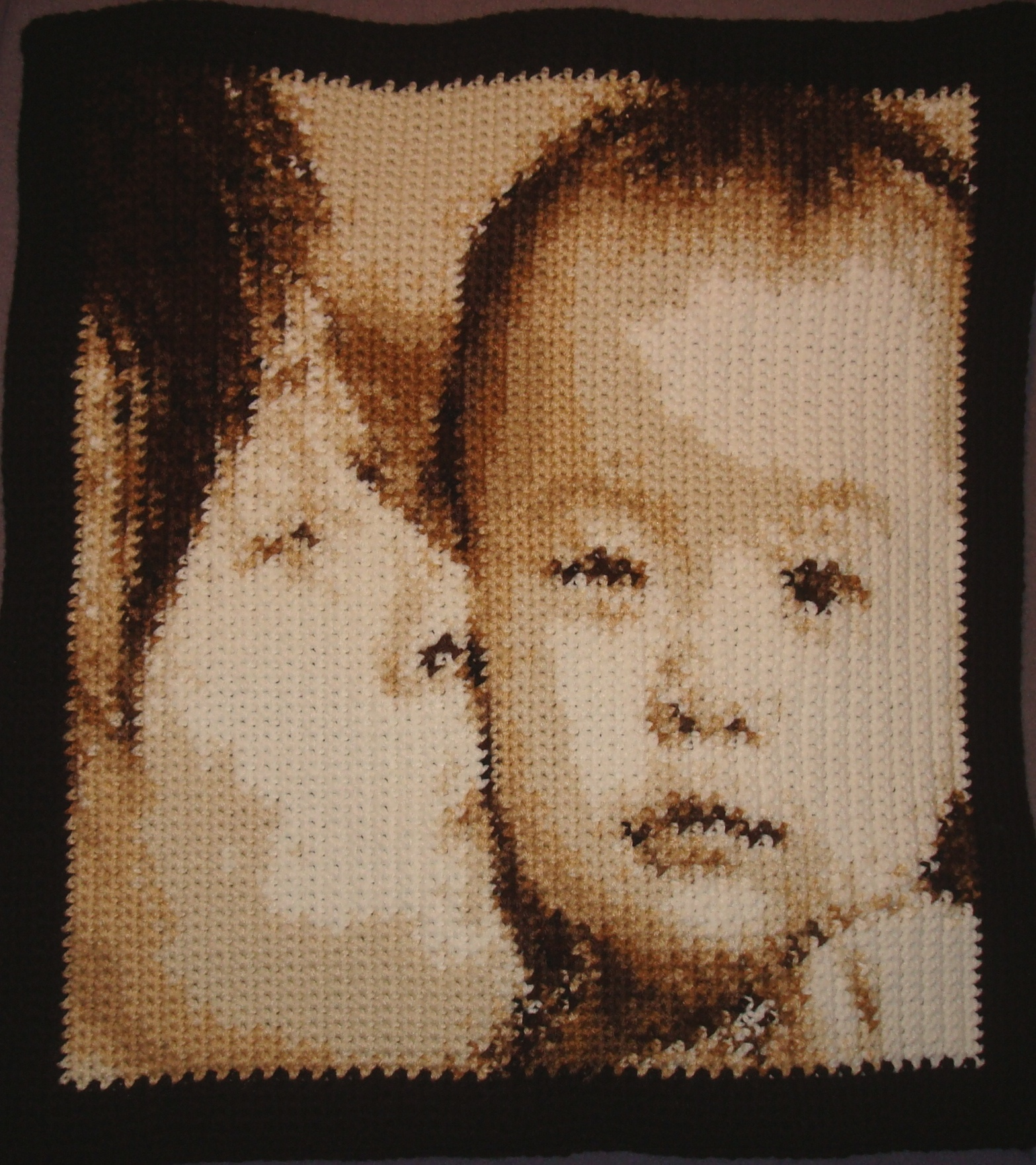 How You Can Create a Crocheted Portrait Like This One