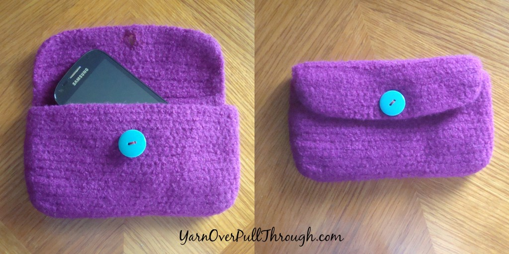 Free Pattern Felted Crochet Clutch Yarn Over Pull Through