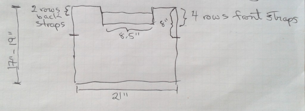 Measurements noted on this rough schematic
