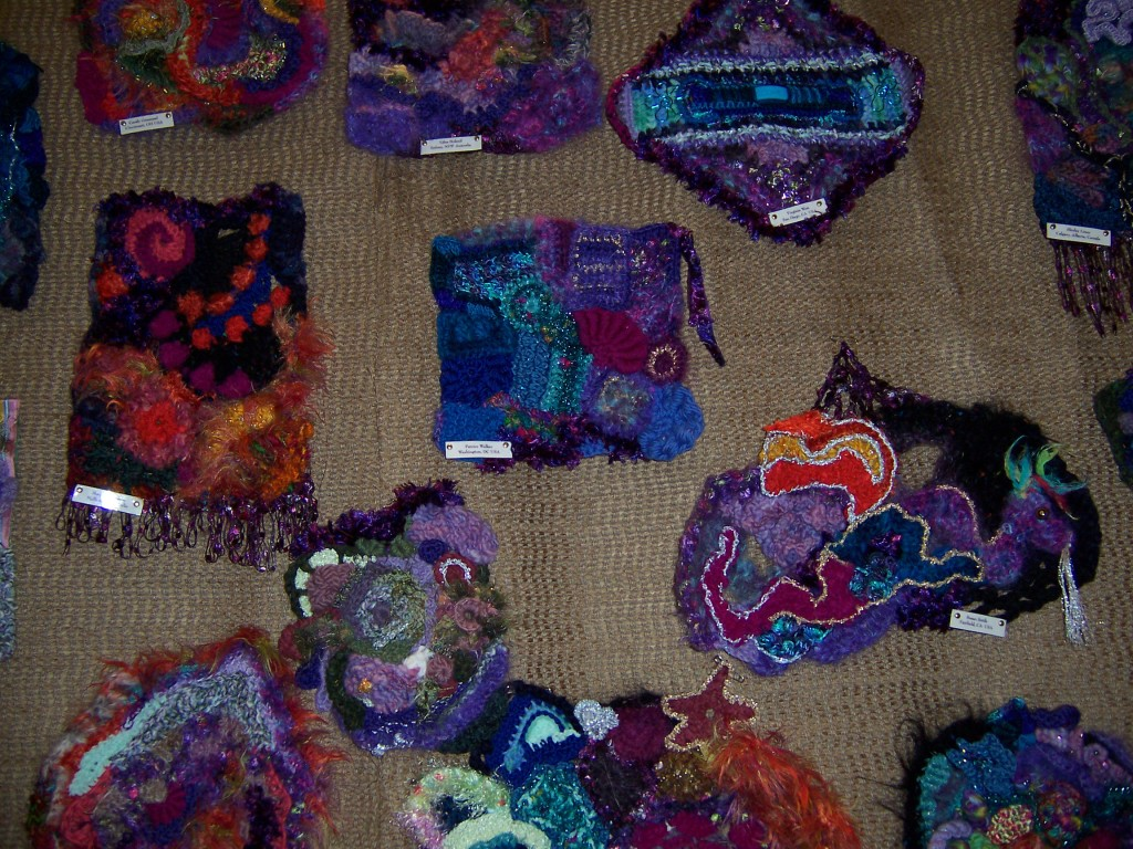 Freeform crochet booth at the 2006 CGOA Conference