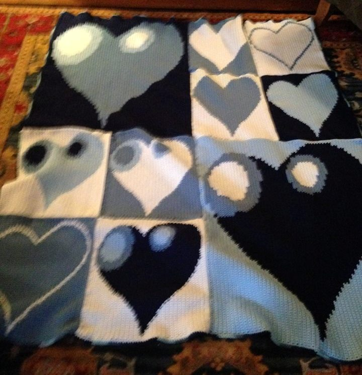 Lisa Murchison Collins' Heart Afghan