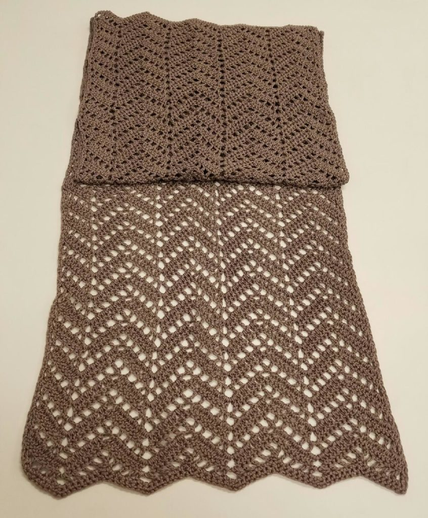Chevron Lace Shawl Crochet Pattern : Chevron Lace Wrap - A Commissioned Crochet Project Yarn ...